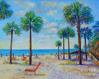 Valerie's View Of Siesta Key Poster by Lou Ann Bagnall