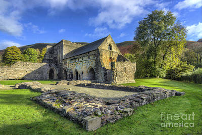 Valle Crucis Abbey V4 Poster by Ian Mitchell
