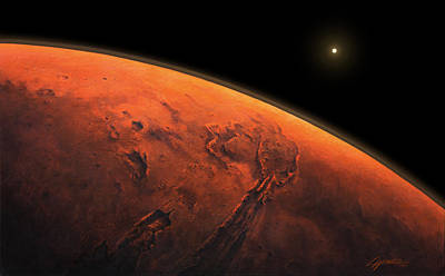 Valles Marineris Sunrise Poster by Lucy West