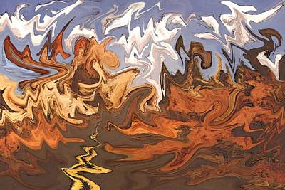 Valley Of Fire - Modern Art Poster by Art America Online Gallery