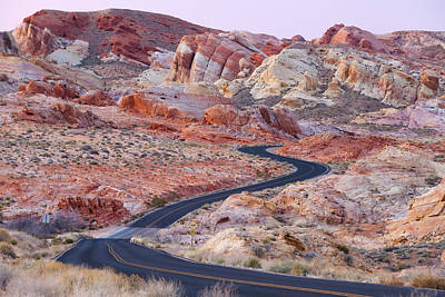 Valley Of Fire Road Poster by Patrick Downey