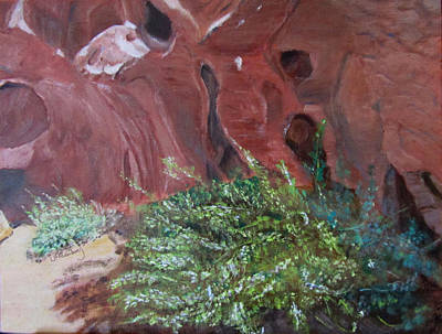 Poster featuring the painting Valley Of Fire State Park by Linda Feinberg