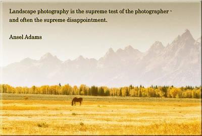 Valley Of Teton Poster by Jens Larsen