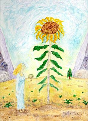 Valley Of The Mammoth Sunflowers Poster