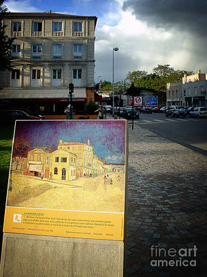 Poster featuring the photograph Van Gogh Painting In Arles by Michael Edwards