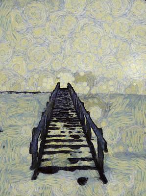 Van Gogh's Starry Walk Poster by Dan Sproul