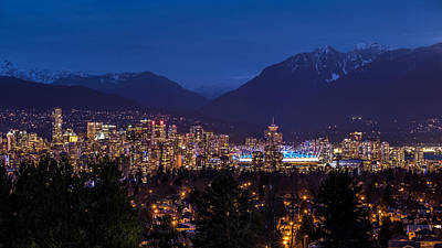 Vancouver At Night Poster by Pierre Leclerc Photography