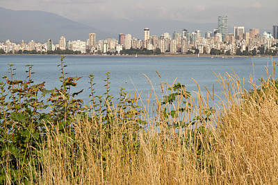 Poster featuring the photograph Vancouver Bc Downtown From Hasting Mills Park by JPLDesigns