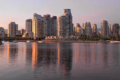 Poster featuring the photograph Vancouver Bc Waterfront Condominiums by JPLDesigns