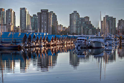 Vancouver Boat Reflections Poster