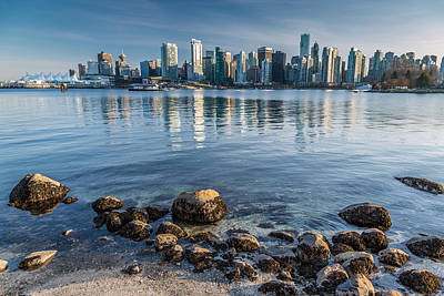Vancouver City From Stanley Park Poster by Pierre Leclerc Photography