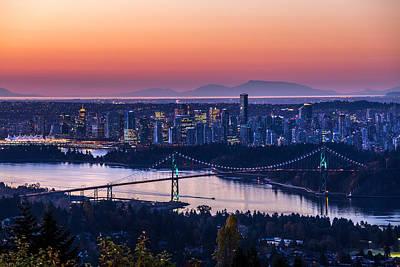 Vancouver City Sunrise Poster
