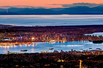 Vancouver From Above Crop Poster by Alexis Birkill