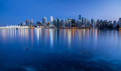 Vancouver From Stanley Park Poster by Pierre Leclerc Photography