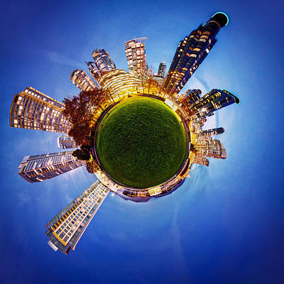 Vancouver Little Planet Poster by Alexis Birkill