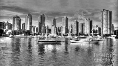 Vancouver Skyline Poster by Mickey At Rawshutterbug
