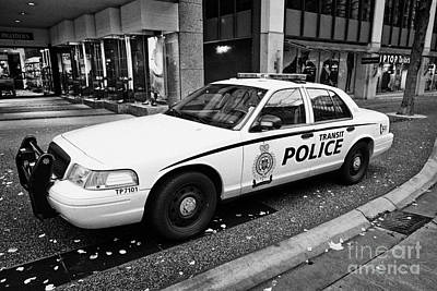 Vancouver Transit Police Squad Patrol Car Vehicle Bc Canada Poster by Joe Fox
