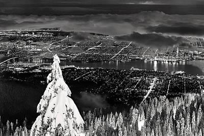 Vancouver Winter Cityscape Poster