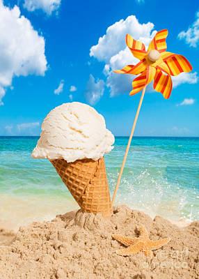 Vanilla Icecream Poster by Amanda Elwell