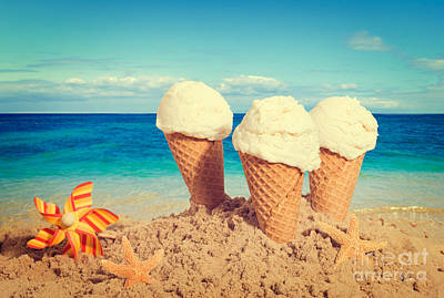 Vanilla Icecreams Poster by Amanda Elwell