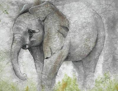 Vanishing Thunder Series-baby Elephant I Poster