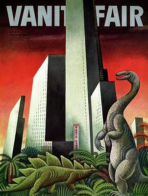 Vanity Fair Cover Featuring A City With A Jungle Poster by Miguel Covarrubias