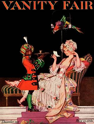 Vanity Fair Cover Featuring A Lady On A Chaise Poster by Frank X. Leyendecker