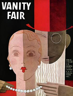 Vanity Fair Cover Featuring A Man Fastening Poster