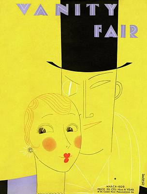Vanity Fair Cover Featuring A Man With A Monocle Poster by Eduardo Garcia Benito