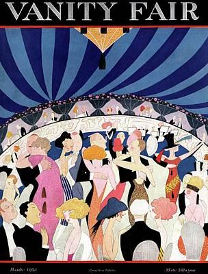 Vanity Fair Cover Featuring Elegant Dancers Poster