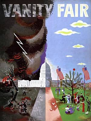 Vanity Fair Cover Featuring The Capitol Building Poster by  Bobri