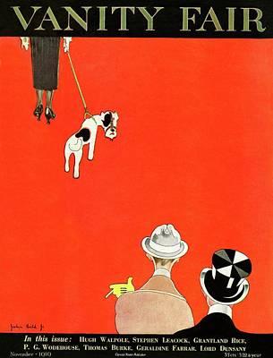 Vanity Fair Cover Of Dog Walking Poster by John Held Jr