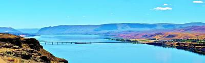 Vantage Bridge Over The Columbia River Poster