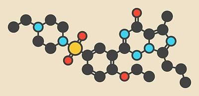 Vardenafil Molecule Poster by Molekuul