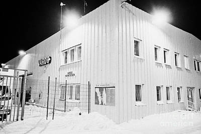 Vardo Port And Warehouse Building At Night In Winter Finnmark Norway Europe Poster