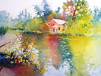 Variations Of Lake Scene Poster