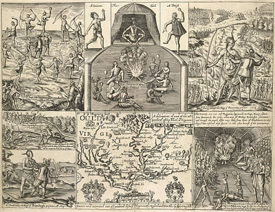 Various Scenes In Virginia Poster by British Library