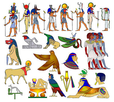Various Themes Of Ancient Egypt Poster