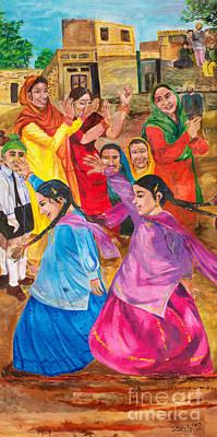 Vasakhi In A Punjab Village Poster