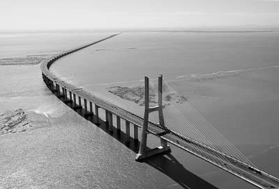 Vasco De Gama Bridge, Lisbon Poster by Xavier Durán