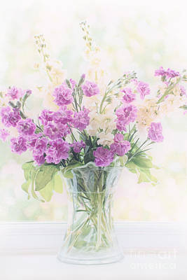 Vase Of Flowers Poster by Natalie Kinnear