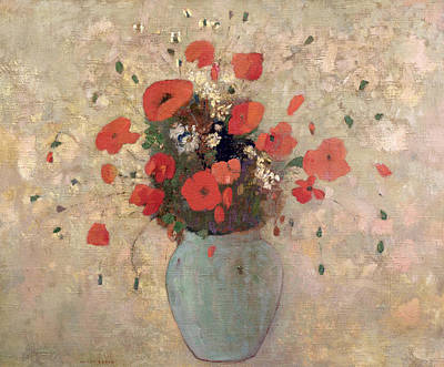 Vase Of Poppies Poster