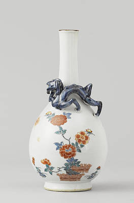 Vase, Pear-shaped With Long Neck, Anonymous Poster
