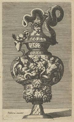 Vase With A Group Of Mermaids, Mermen Poster by Frederick de Wit