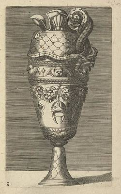 Vase With Cherubs And A Helmet Poster by Frederick de Wit