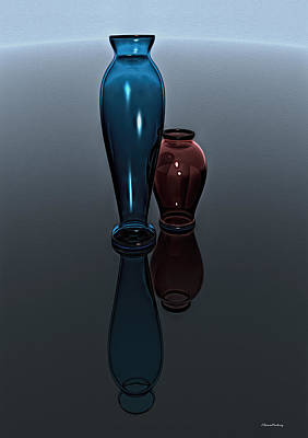 Vases Of Glass Poster by Ramon Martinez