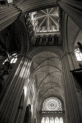 Vaults Of Rouen Cathedral Poster by RicardMN Photography