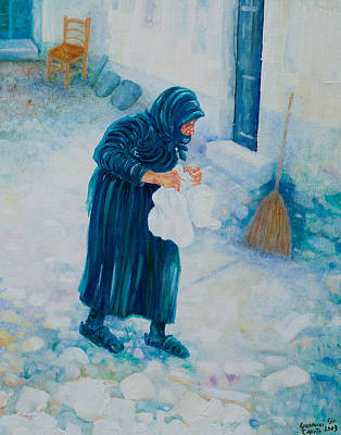 Forenza Vita Nonna Filomena In Blu Poster