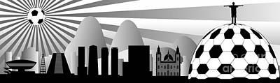 vector Rio skyline with ball Poster