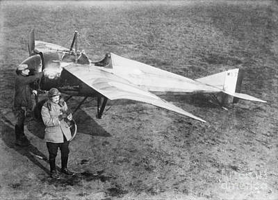 Vedrines And His Military Aircraft, 1910s Poster by Library Of Congress